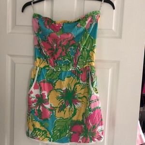 Lilly Pulitzer skort strapless dress, size small